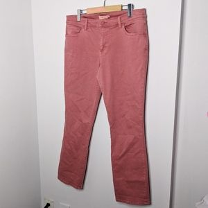 Tory Burch faded salmon straight leg jeans size 32